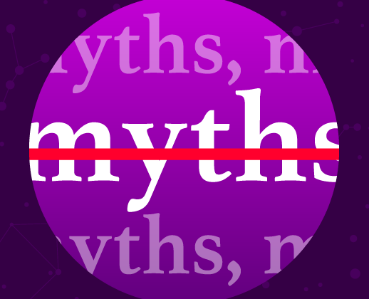 circle with the word myths inside