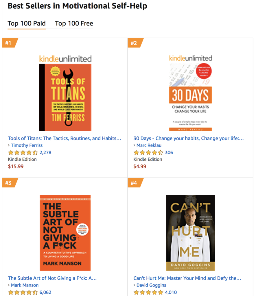 best sellers in motivation
