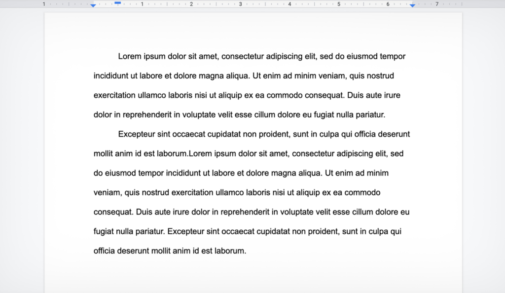 paragraph classic style