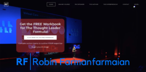 robin farmanfarmaian website screenshot