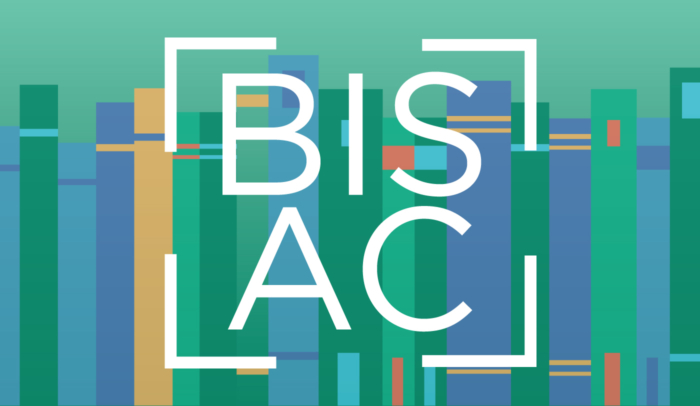 BISAC logo with books in the background