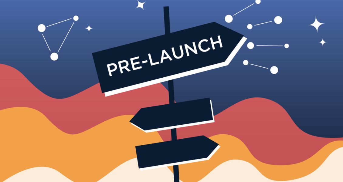 Pre-launch signs pointing different directions